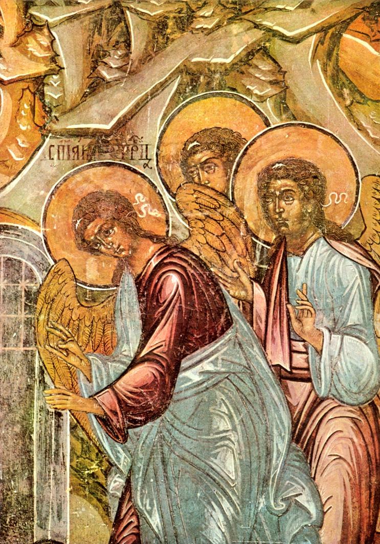 Явление Троицы Аврааму. Фреска